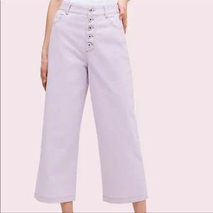 Kate Spade ♠️ cropped lilac pants nwot